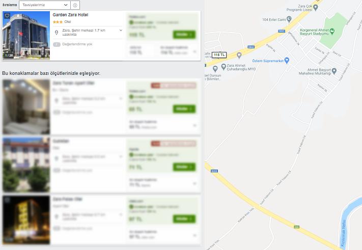 Sivas Zara Otel Fiyatları